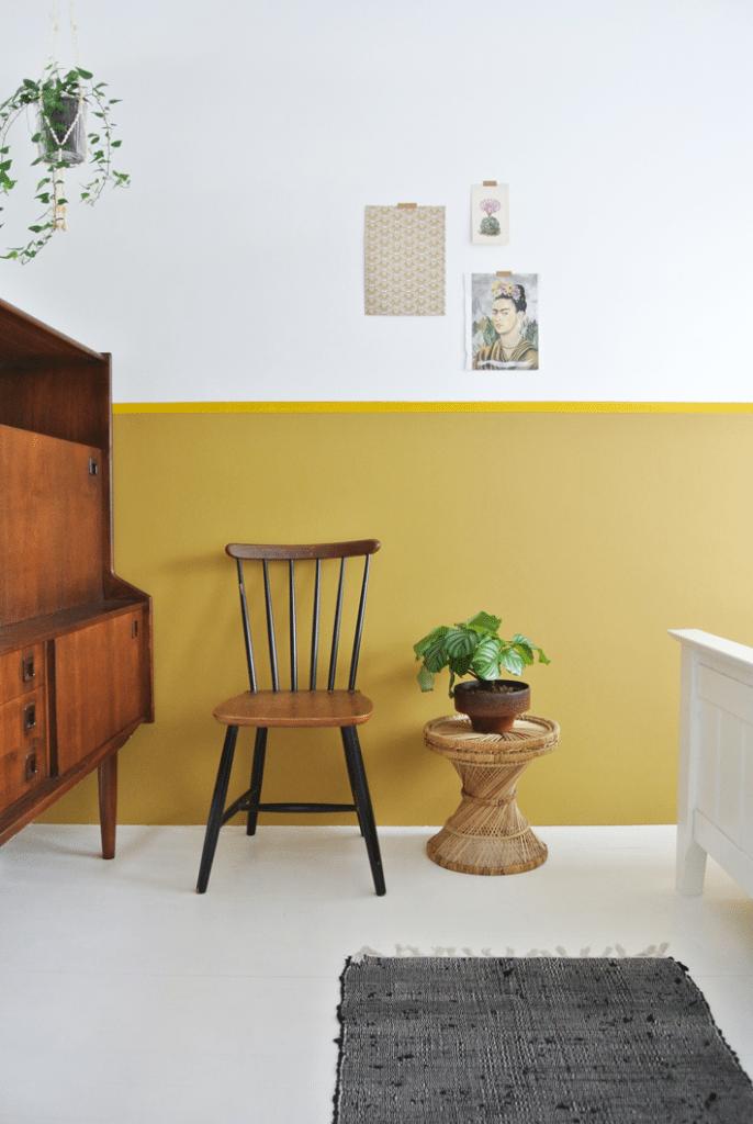 painted wall ochre gold flexa