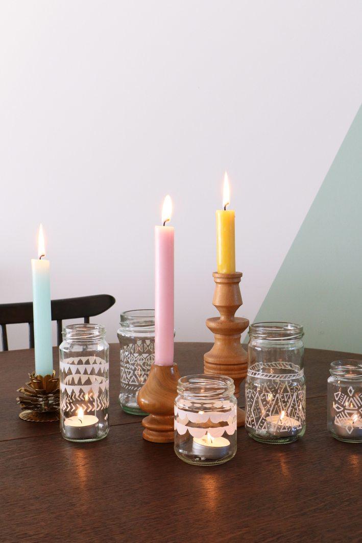diy theelichtjes kaarsen