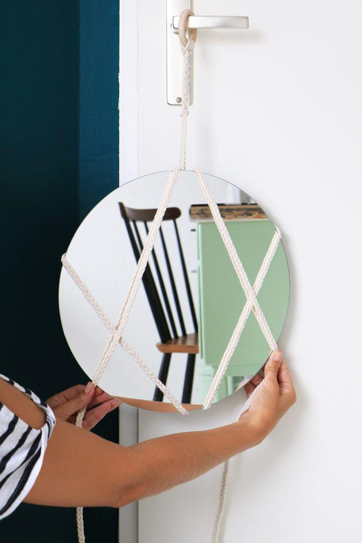 diy macrame mirror