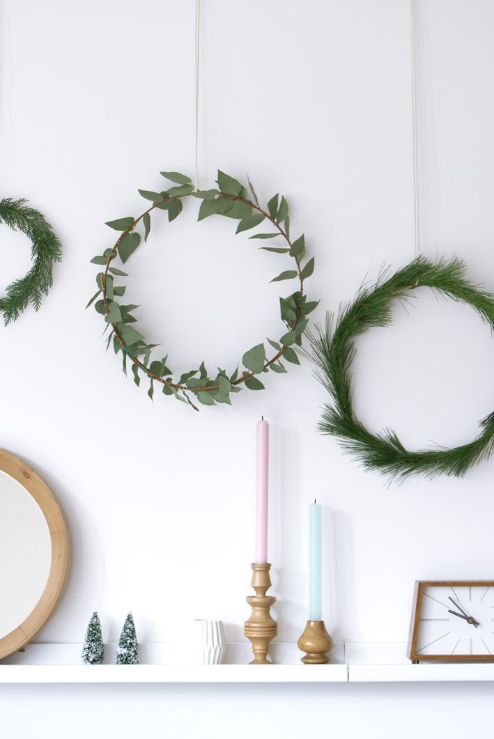 christmas decorations with greens