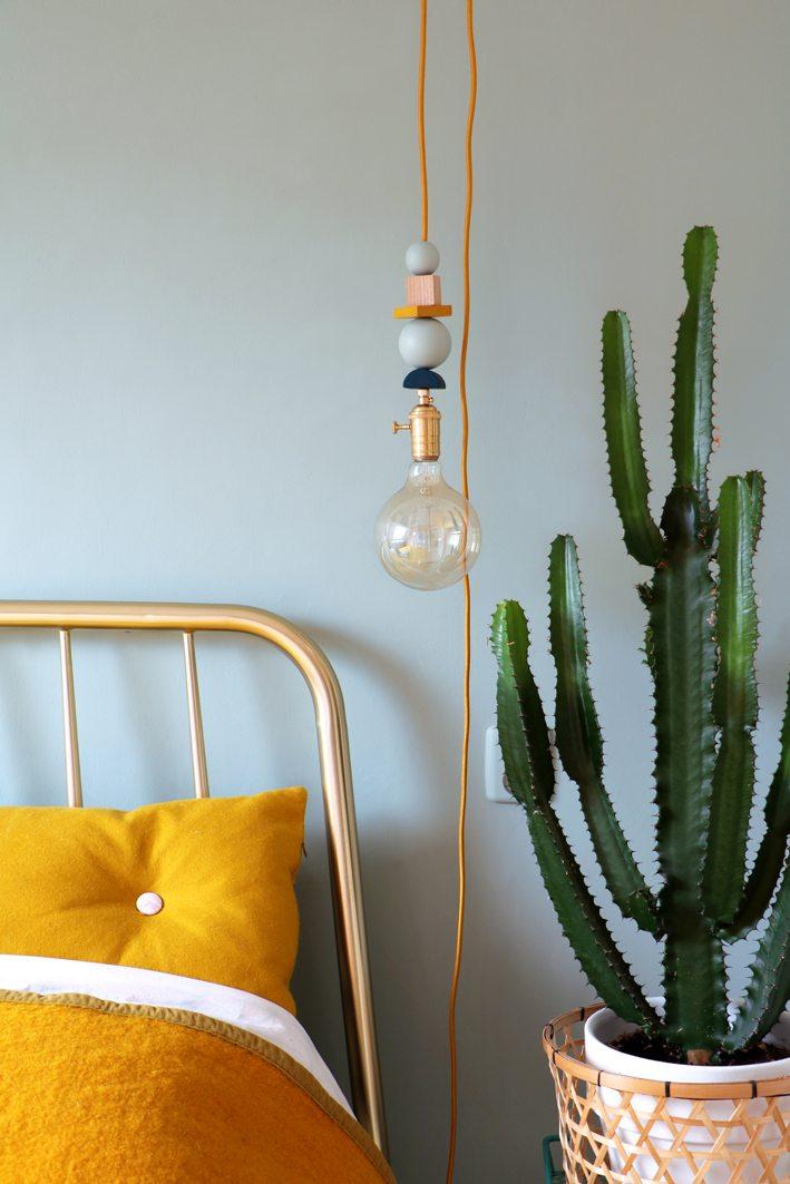 DIY geo lamp