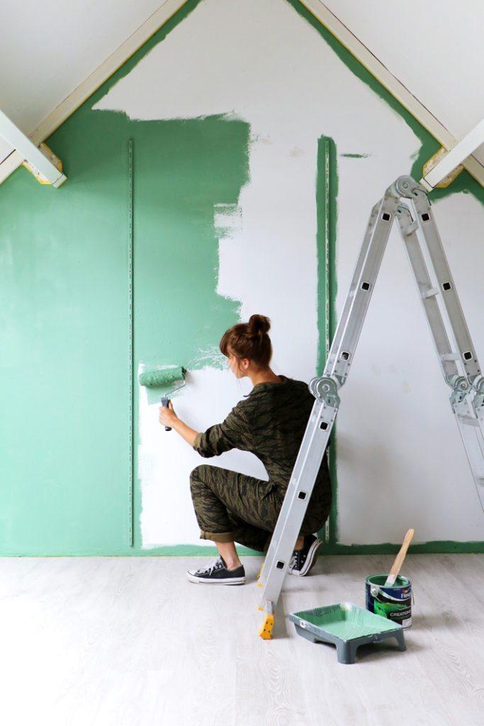 Flexa muur verven
