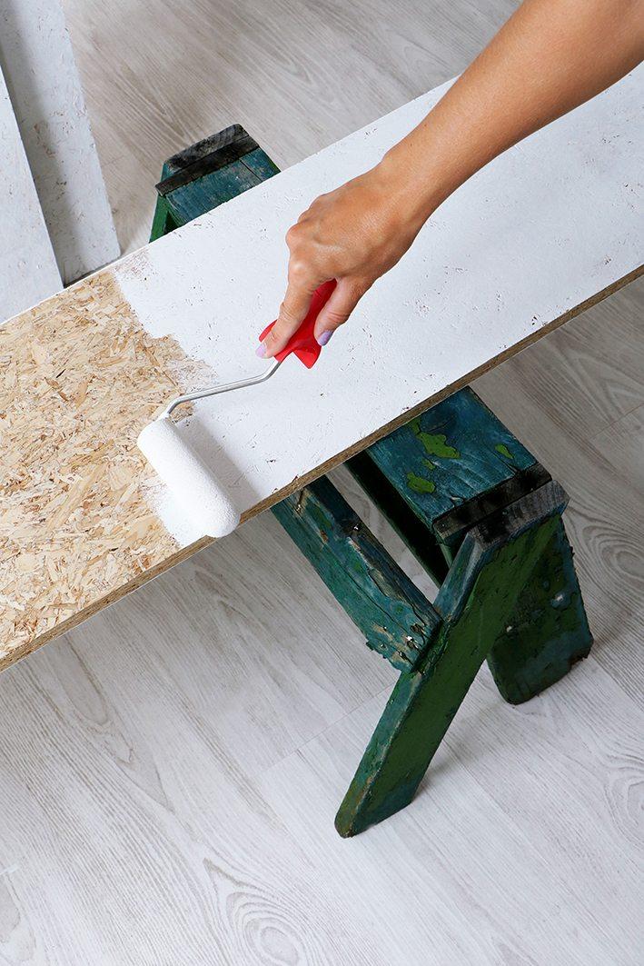 plank verven grondverf