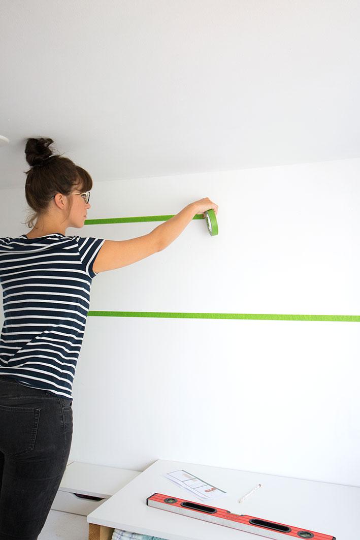 baan schilderen op de muur