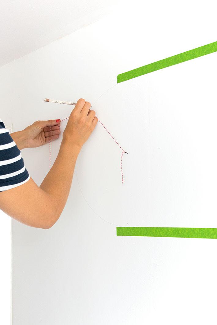 cirkel maken op de muur