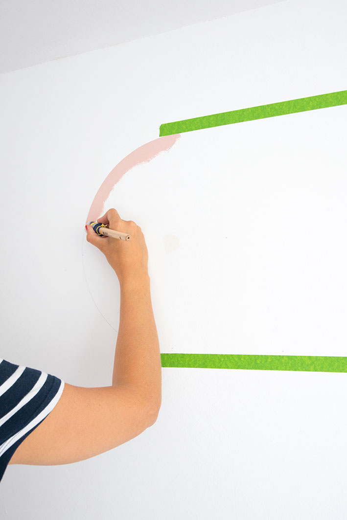 cirkel schilderen op de muur