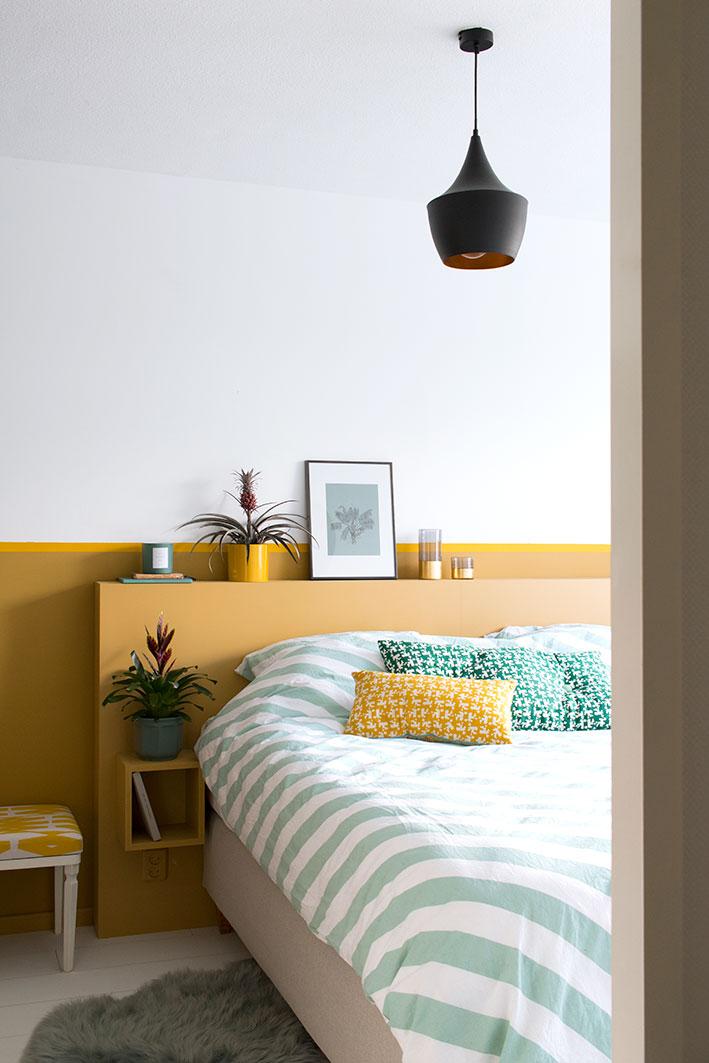 bromelia in de slaapkamer