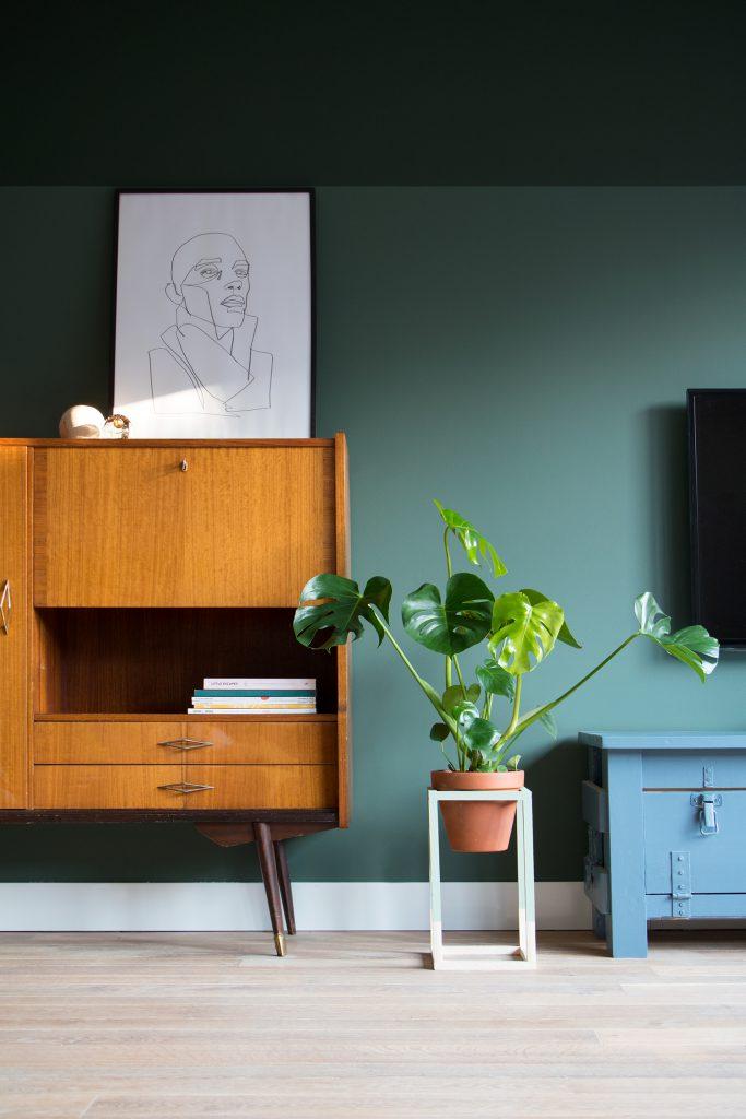 plantenkubus van hout