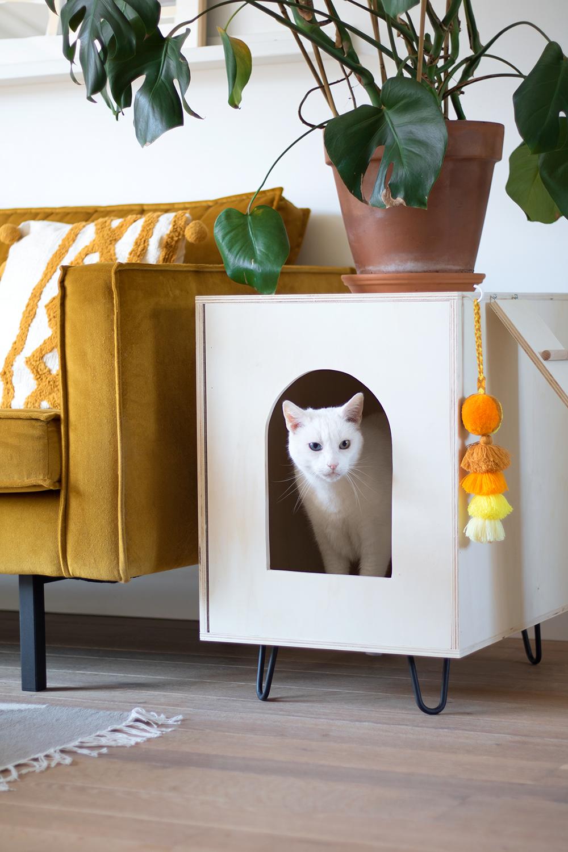 diy kattenhuisje