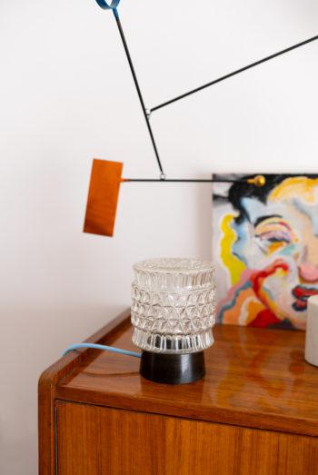 glazen tafellamp