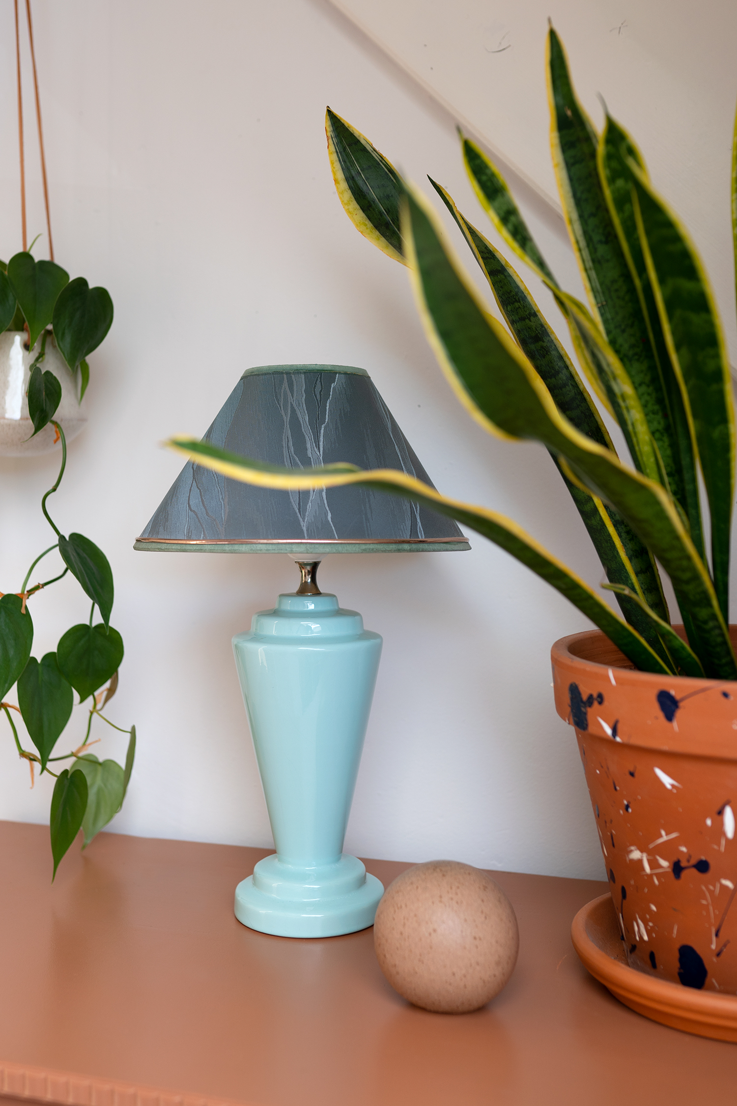 mintgroene tafellamp