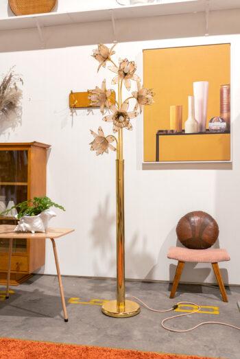 lotus lamp vintage