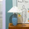 gestreepte tafellamp