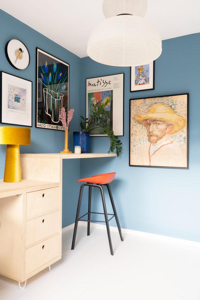 gallery wall werkplek