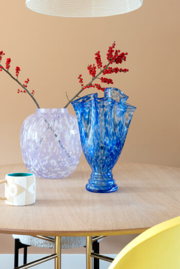 vintage Art Deco glazen vaas