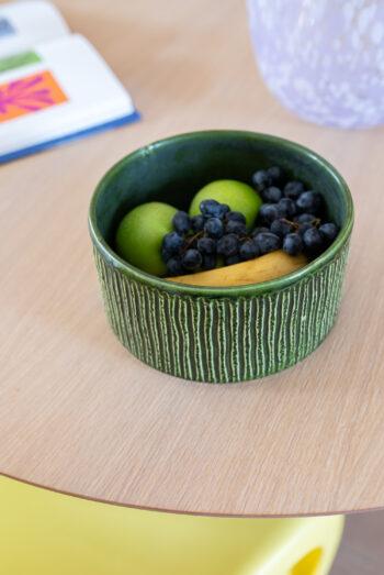 vintage fruitschaal groen