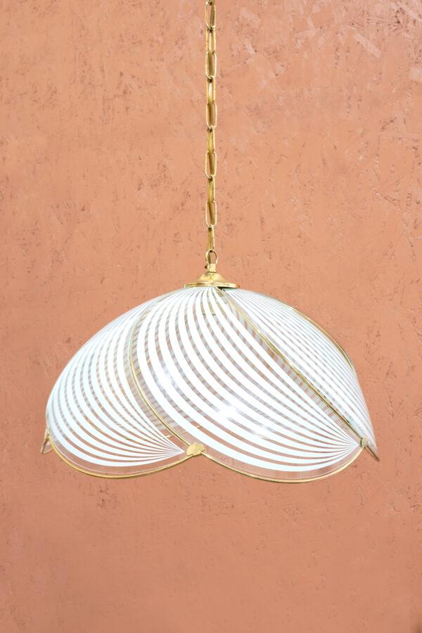 hollywood regency hanglamp glas