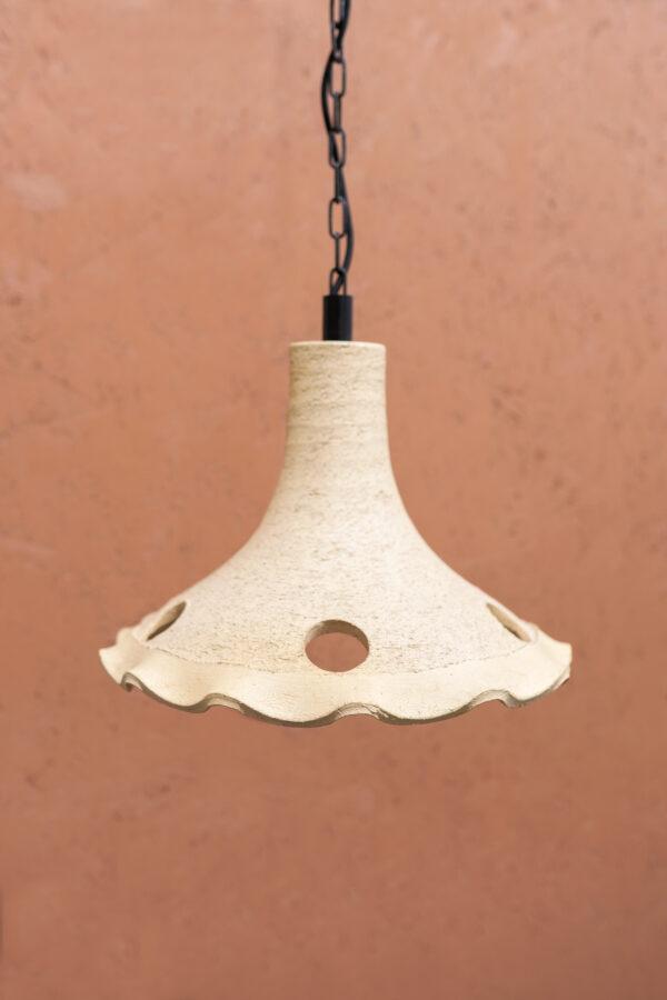 retro hanglamp jaren 70 aardewerk