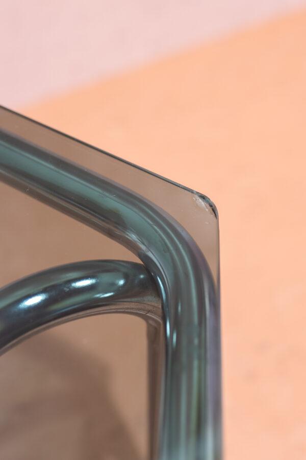 vintage buisframe salontafel rookglas