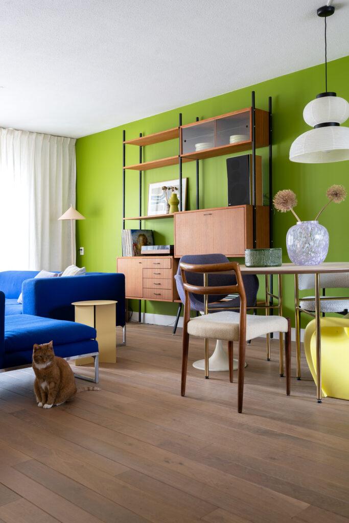 kleur op de muur woonkamer