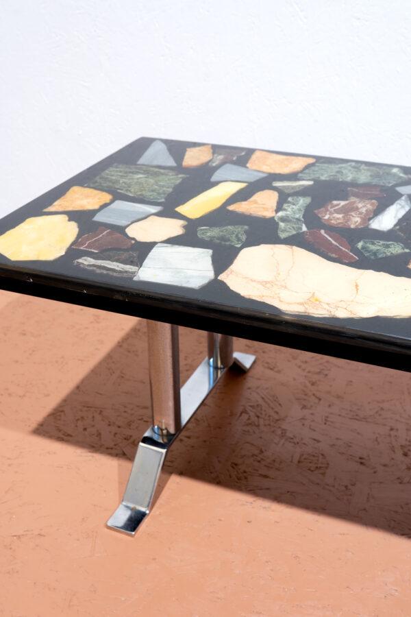 onyx epoxy salontafel chroom