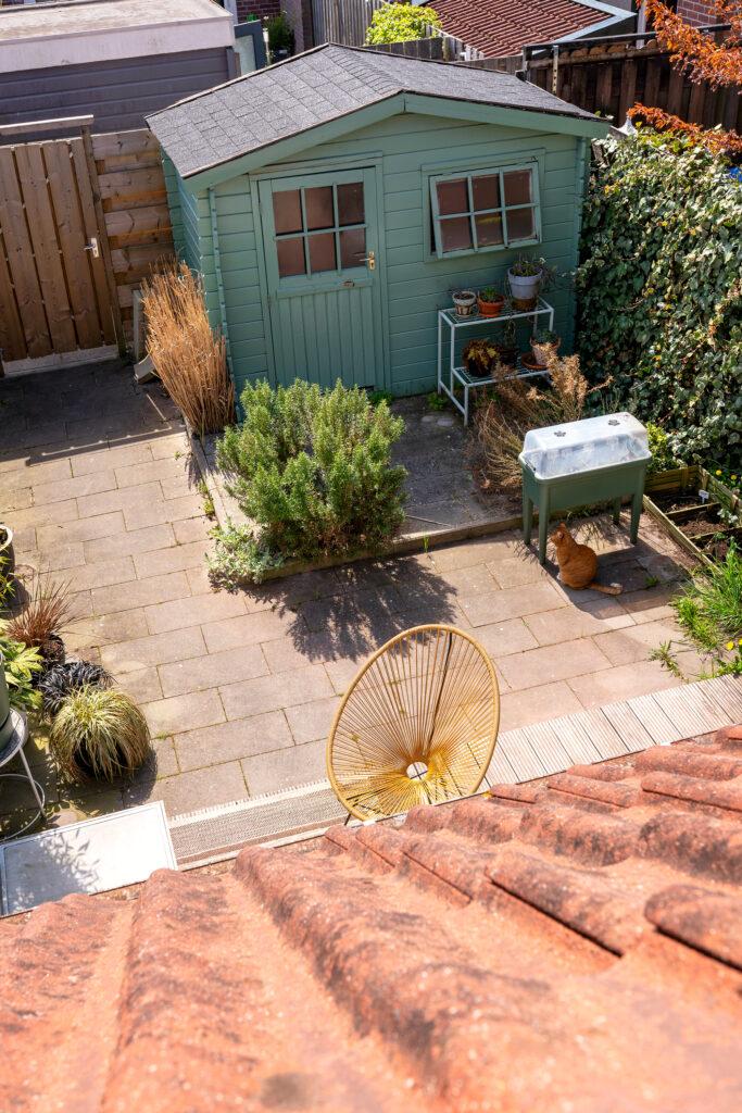tuinverbouwing tuinhuisje