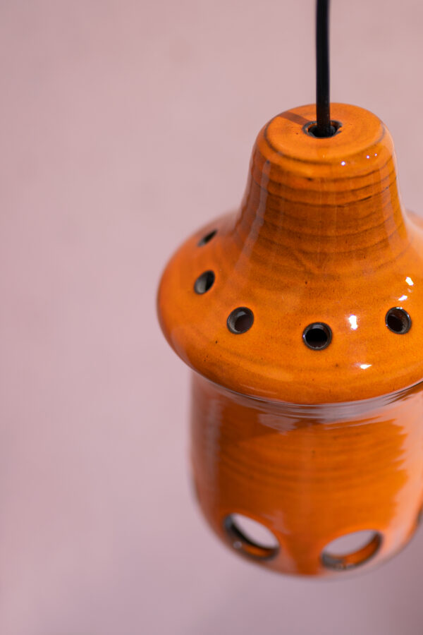 retro hanglamp aardewerk