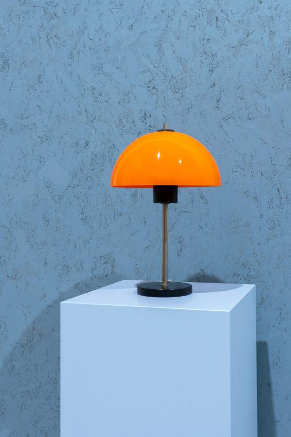 retro mushroom lamp oranje