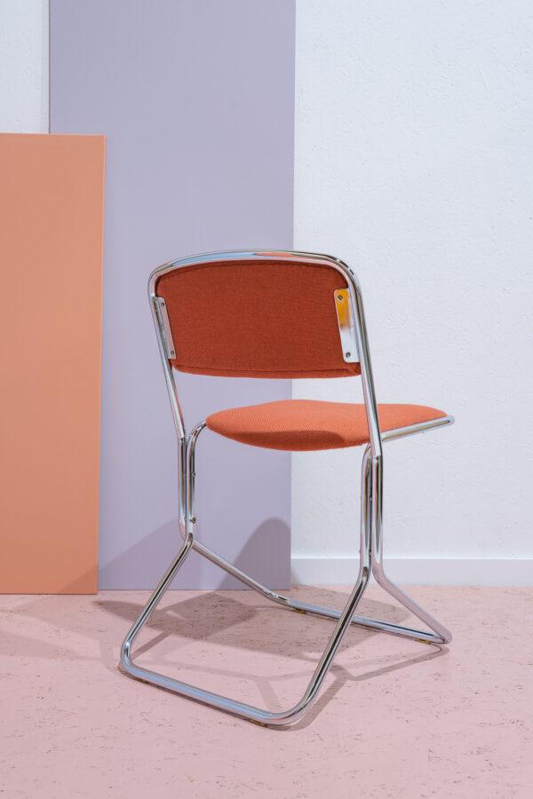 retro stoel chroom