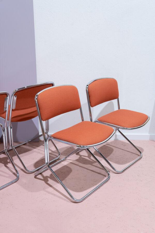 retro buisframe stoelen