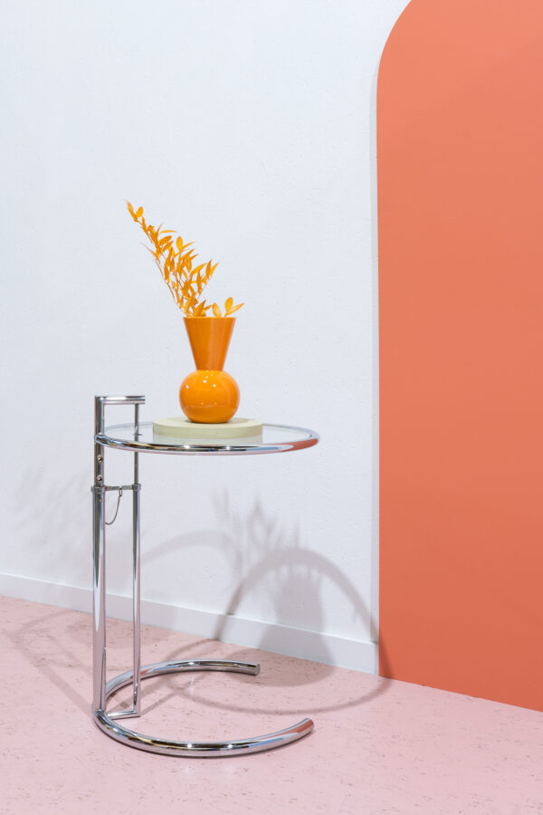 bijzettafel Eileen Gray chroom