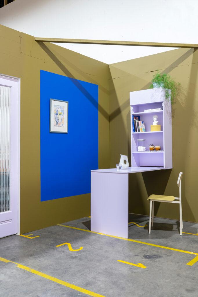 diy uitklapbare koffiehoek studio