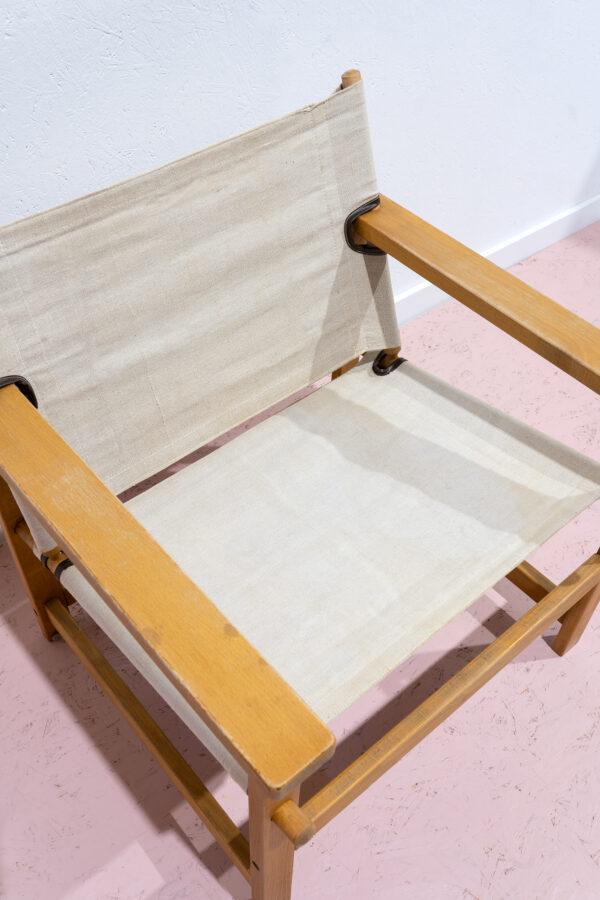 vintage safari stoel hillingen mobler canvas