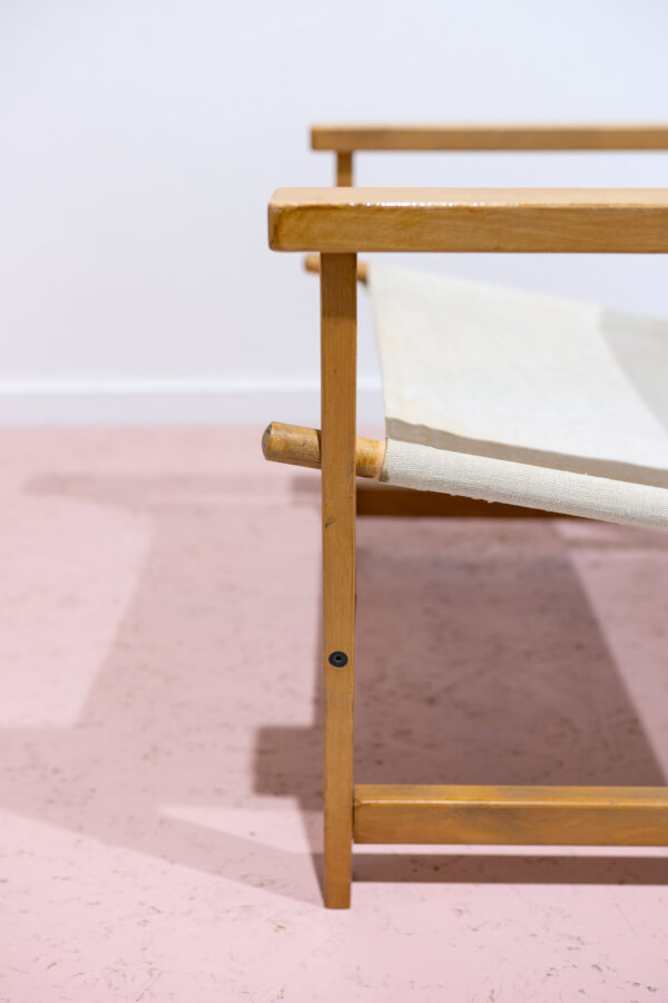 vintage Deense safari stoel
